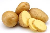 Raw Potatoes with Slices